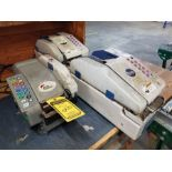 (2) INTERPACK TAPE MACHINES, MODEL TWA1000E, PROGRAMMABLE CONTROL & (1) BETTER PACK 500 TAPE