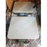 "(2) OHAUS CATAPULT 1000 DIGITAL PLATFORM SCALES, MODEL C11P75, 165 LB. MAX CAPACITY, 12 1/4"" X 11"""