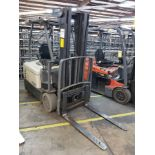 """2013 CROWN 4500 SERIES 4,825-LB. ELECTRIC FORKLIFT, 83"""" 3-STAGE MAST, FORK RACK, SOLID NON-MARKING"""