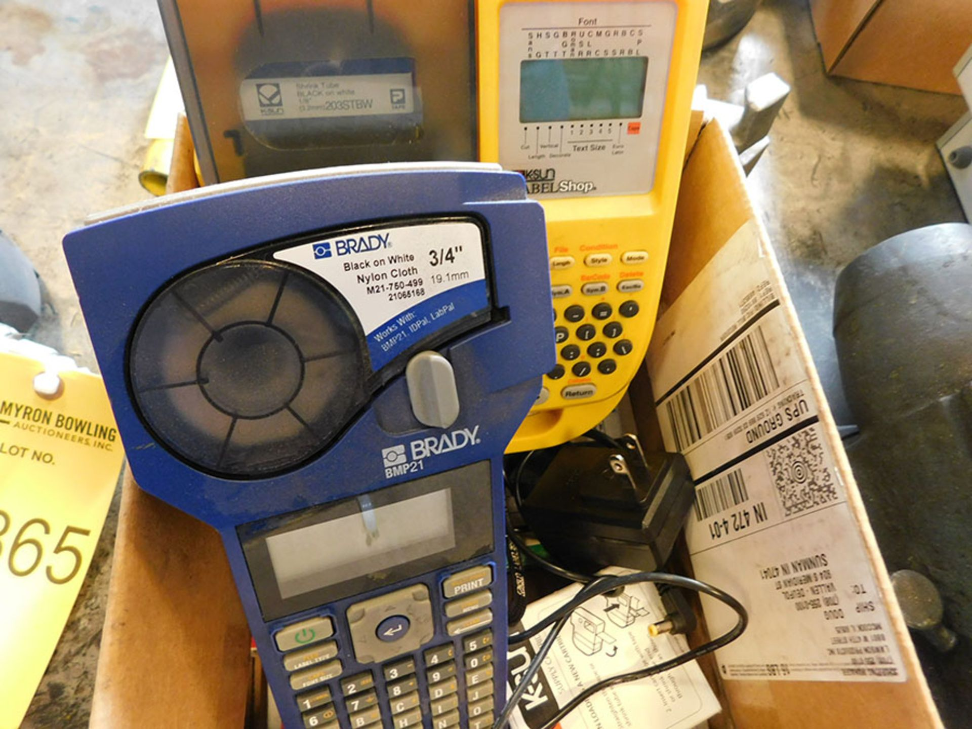 Lot 866 - LOT OF LABEL MAKERS WITH CARTRIDGES
