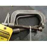 (2) DROPPED FORGEINDIA NO. 404 C-CLAMPS