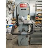 ROCKWELL VERTICAL BANDSAW, MODEL 14, 13 5/8'' THROAT,14'' X 14'' CONTOUR TABLE