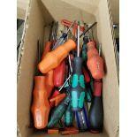 BOX OF (10+) TORX SCREW DRIVERS, WERA, AND WIHO BRANDS