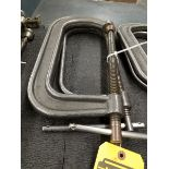 (2) ARTIC INDIA DROPPED FORGED NO. 408 C-CLAMPS