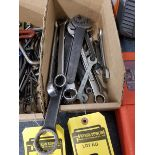 (20+) OPEN & CLOSED END WRENCHES, METRIC, AND STANDARD