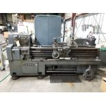 WEBB GAP BED ENGINE LATHE, 80'' BED, 8 1/2'' CENTER OVER BED,12'' 4 JAW CHUCK, TAILSTOCK,POWER