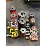 (X11) ASSORTED ENERPAC & POWERTEAM HYDRAULIC RAMS, 5-TON TO 22-TON RANGE