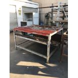 60'' X 45'' TORCH TABLE, 1/4''W FINS