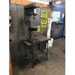 CENTRAL MACHINERY 5-SPEED BENCHTOP DRILL PRESS, MODEL C112, 6'' THROAT, 12.5'' TABLE, 3'' STROKE,