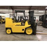 HYSTER 16,800-LB. CAPACITY FORKLIFT, MODEL: S155XL EXTENDED, S/N: B024D03288R, LPG, SOLID TIRES, 2-