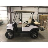 2014 CLUB CAR PRECEDENT ELECTRIC GOLF CART, WITH 48V CHARGER, 4-PASSENGER FOLD DOWN SEAT, LIFT KIT
