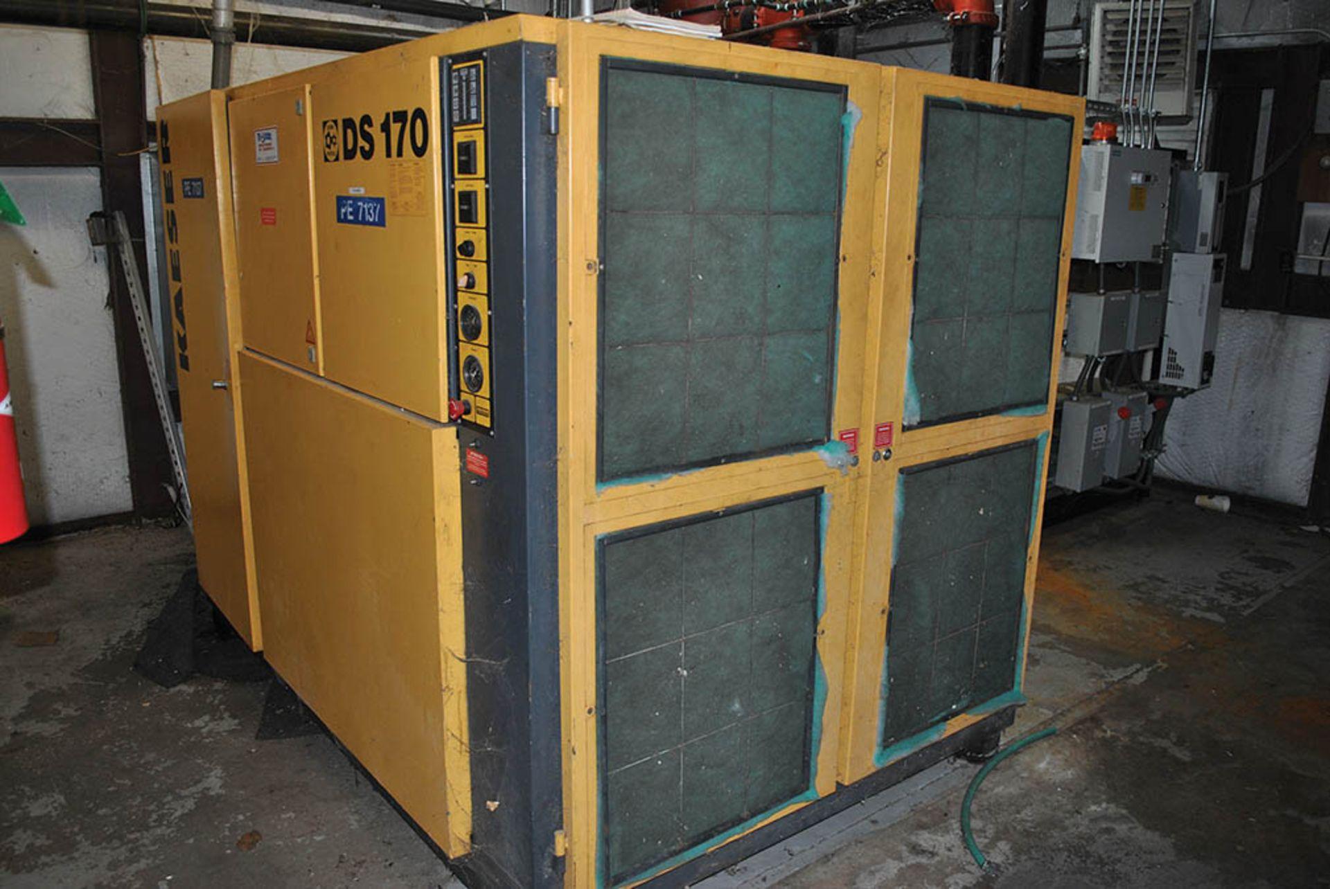 Lot 52 - KAESER 125-HP AIR COMPRESSOR, MODEL DS 170, S/N 1722684