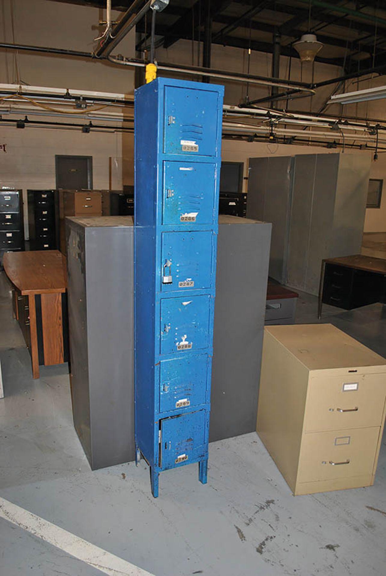 Lot 120 - 6-DOOR BLUE LOCKER