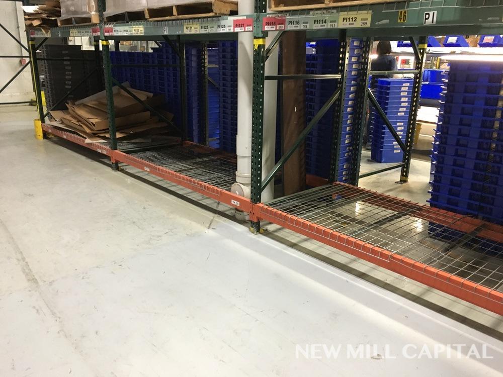 Lot 18 - Ridg-U-Rak Teardrop Pallet Racking, (29) Uprights (3in x 2.25in Columns, | Rig: See Lot Description
