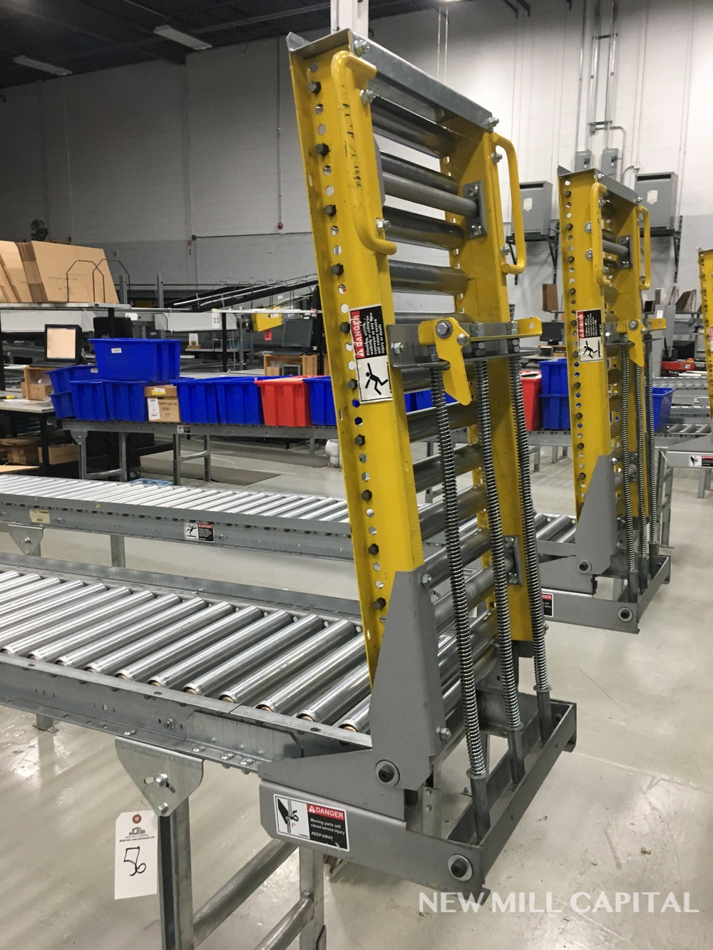 Lot 56 - Spring Assisted Roller Conveyor & Gate, Approx 20ft OA Length, 15in Wide Rol | Rig Fee: $150