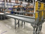 Lot 62 - Spring Assisted Roller Conveyor & Gate, Approx 18.5ft OA Length, 15in Wide R | Rig Fee: $150