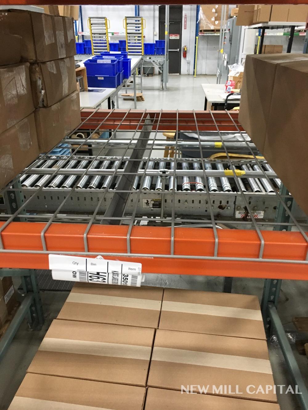 Lot 12 - Interlake Teardrop Pallet Rack, (12) Uprights (3in x 1.625in Columns, 42i | Rig: See Lot Description