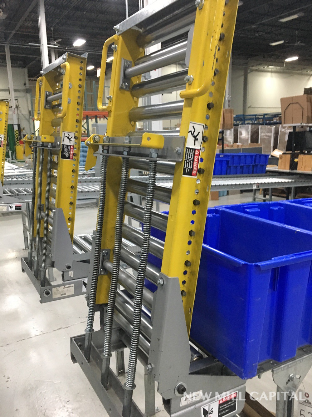 Lot 53 - Spring Assisted Roller Conveyor & Gate, Approx 20ft OA Length, 15in Wide Rol   Rig Fee: $150