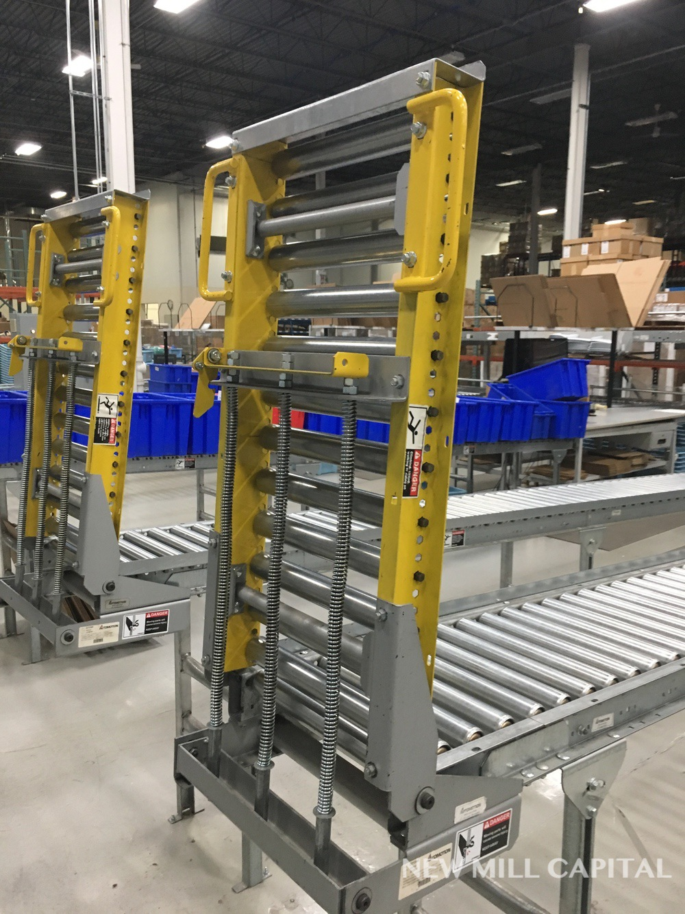 Lot 55 - Spring Assisted Roller Conveyor & Gate, Approx 20ft OA Length, 15in Wide Rol | Rig Fee: $150