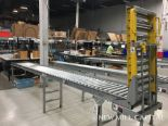 Lot 54 - Spring Assisted Roller Conveyor & Gate, Approx 20ft OA Length, 15in Wide Rol | Rig Fee: $150