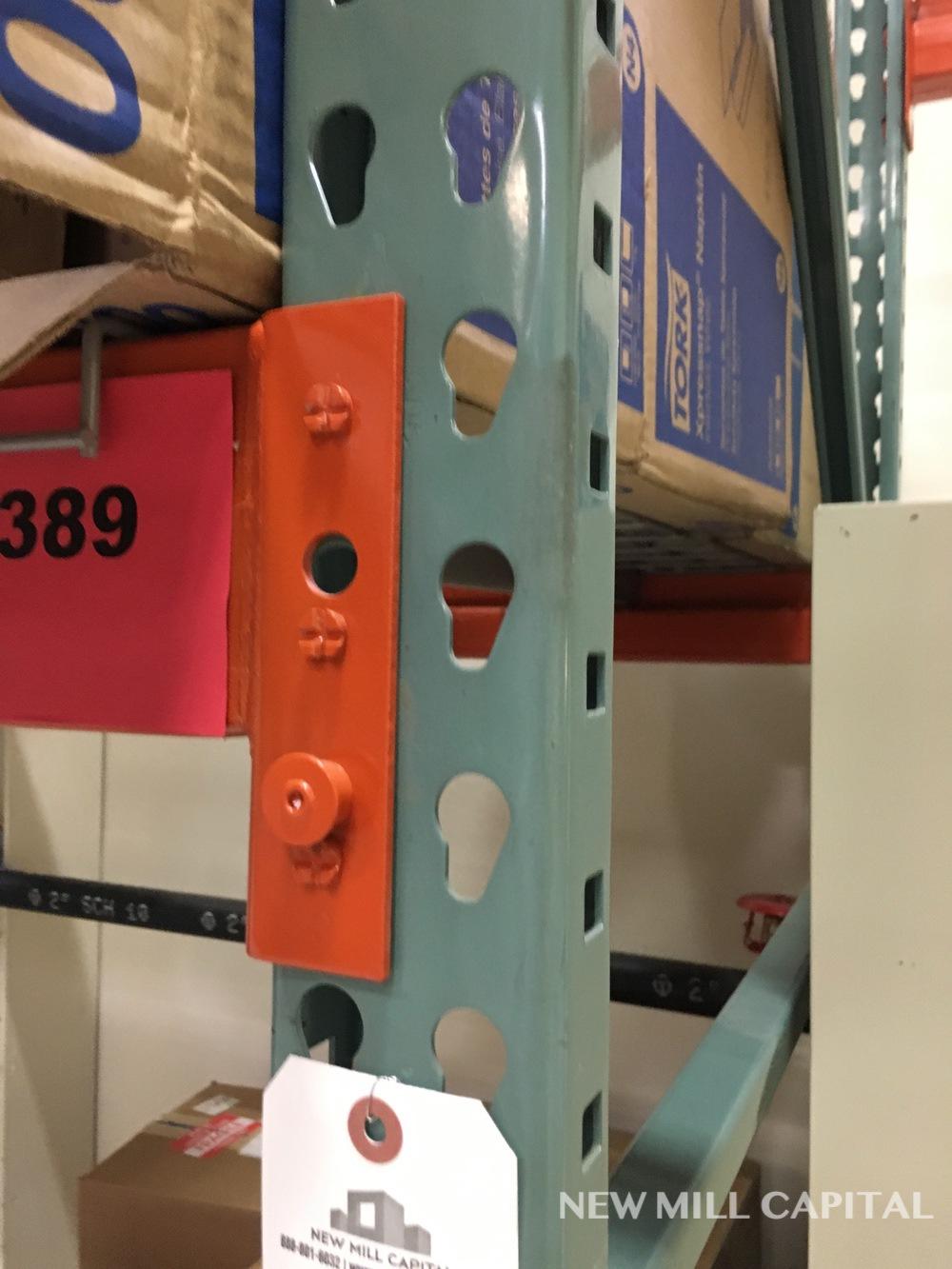 Lot 24 - Interlake Teardrop Pallet Rack, (5) Uprights (3in x 1.625in Columns, 42in | Rig: See Lot Description