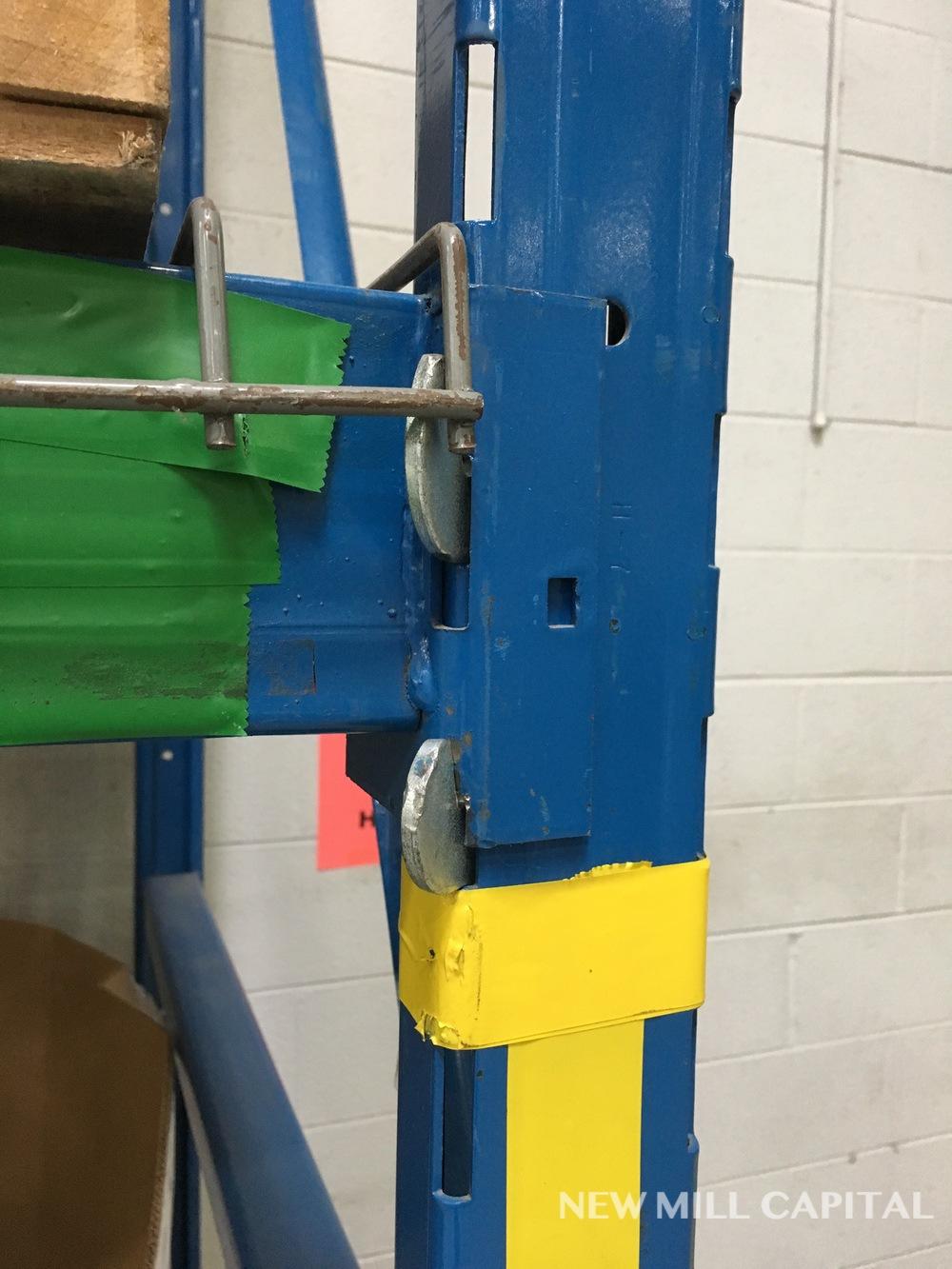 Lot 10 - Ridg-U-Rak Slotted Pallet Rack, (18) Uprights (3in x 1-5/8 in Columns,   Rig: See Lot Description