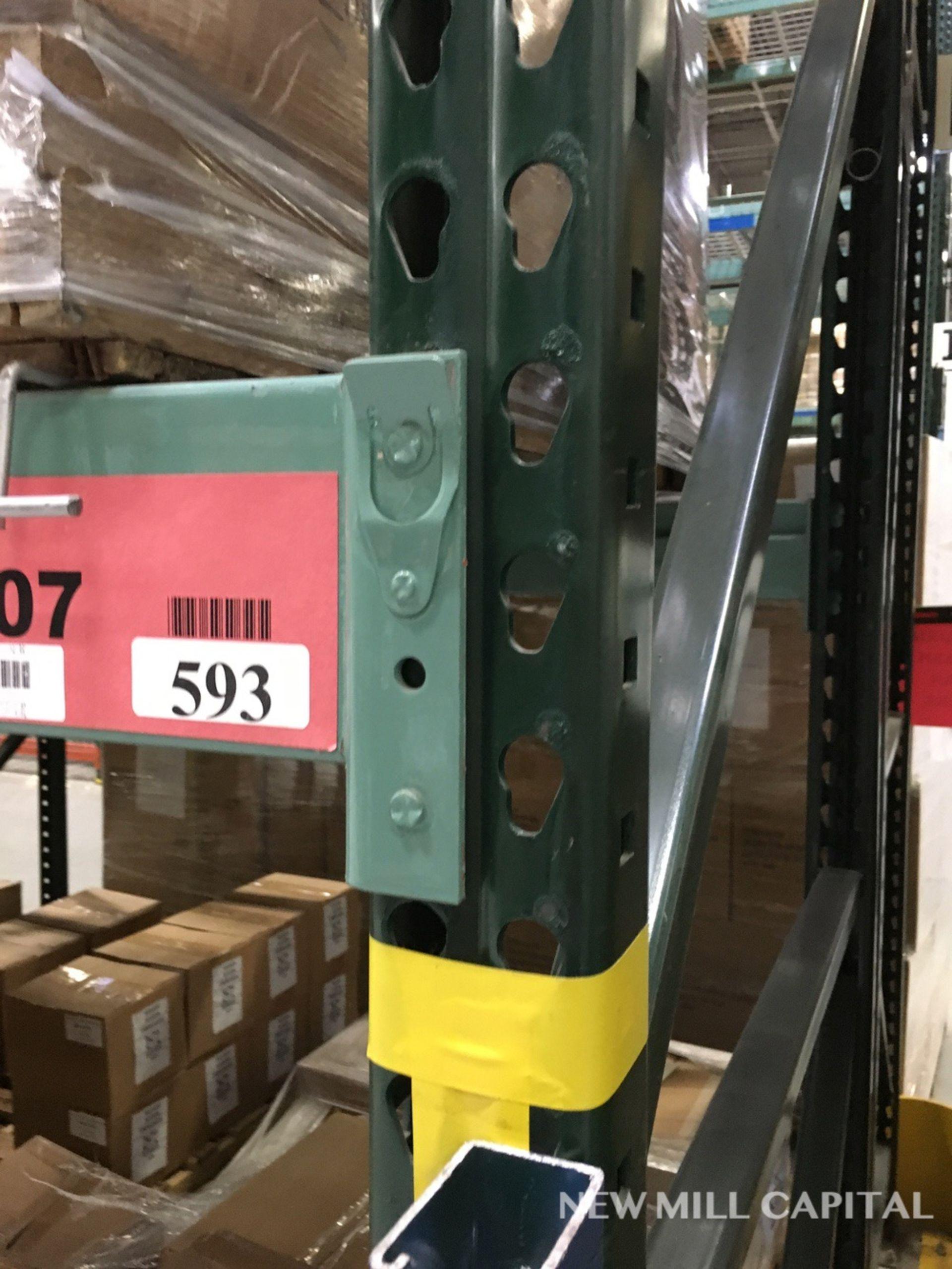 Lot 19 - Ridg-U-Rak Teardrop Pallet Racking, (32) Uprights (3in x 2.25in Columns,   Rig: See Lot Description