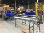 Lot 50 - Spring Assisted Roller Conveyor & Gate, Approx 20ft OA Length, 15in Wide Rol | Rig Fee: $150