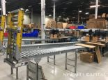 Lot 57 - Spring Assisted Roller Conveyor & Gate, Approx 20ft OA Length, 15in Wide Rol | Rig Fee: $150