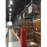 Lot 17 - Interlake Teardrop Pallet Rack, (16) Uprights (3in x 1-5/8in Columns, 42i | Rig: See Lot Description