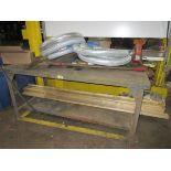 """(1) 6' Steel Leg Shop Bench w/ 5"""" Vise   Rig Fee: $25"""