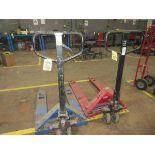 """LOT (1) Blue Hydraulic Pallet Jack, 5500#,. 36"""" Forks (Fair), (1) Red Dayton 55   Rig Fee: $25 or HC"""