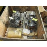 LOT Baldor 2HP Motor, (3) Baldor 5HP Motors, Baldor 1/3HP Motor in Crate   Rig Fee: $25