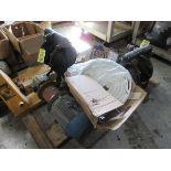 LOT (2) Arc Diaphragm Pumps, Misc. Pumps, 3HP Motor, Hose on Pallet   Rig Fee: $25