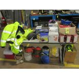 LOT Assorted Respirators, Hard Hats, Caution Tape, Safety Vest & Safety Equipme   Rig Fee: $50 or HC