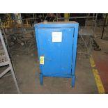 (1) Durham Single Door, Blue Steel Supply Cabinet   Rig Fee: $25