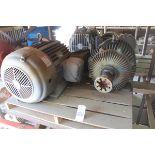Lotto 201 - 1 ea. 75 hp 1200 rpm 405T 460V TEFC (US Motor), 1 ea. 60 hp 1800 rpm 364T 230/460V | Load Fee: $5