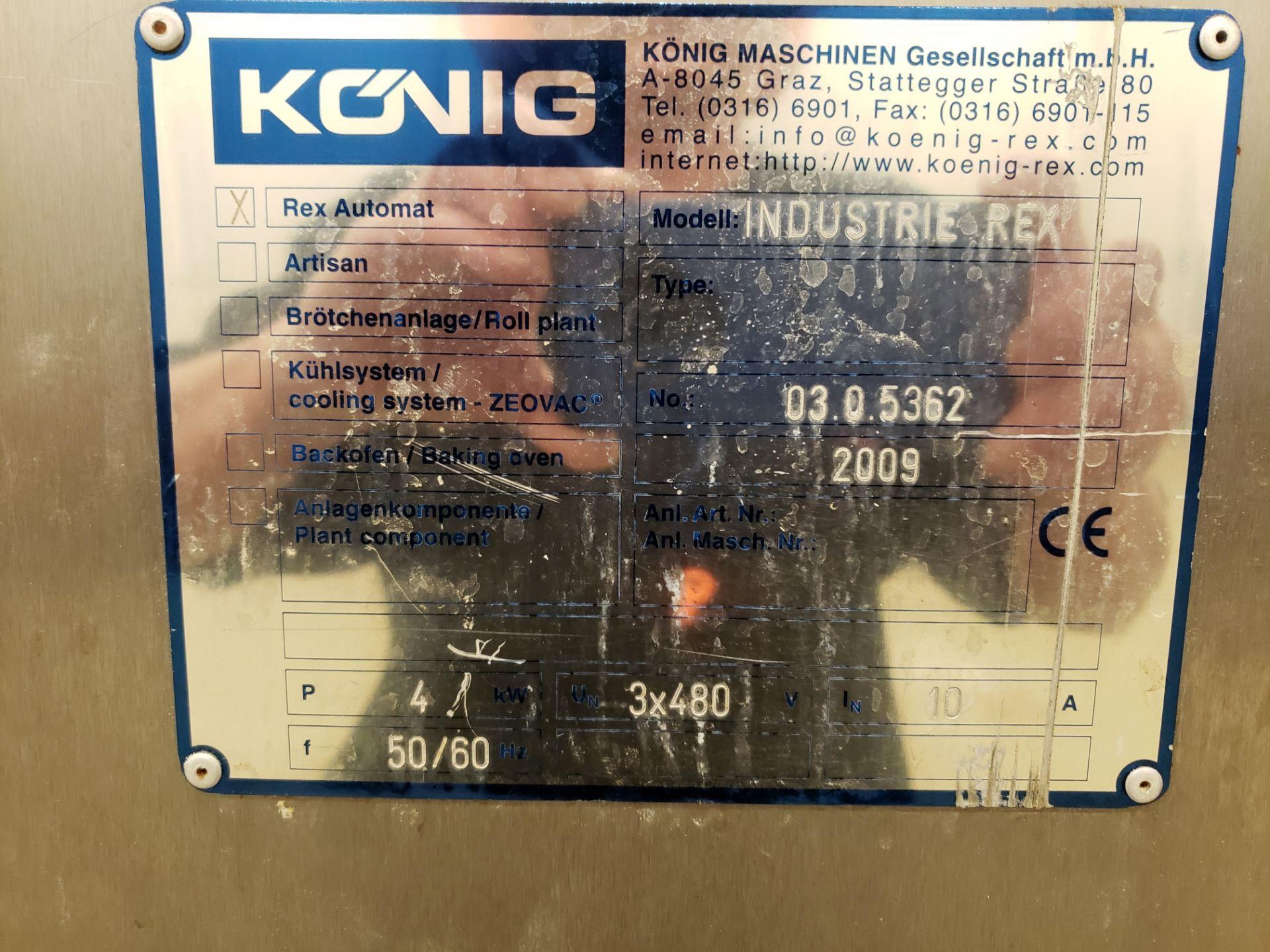 "Lot 11 - 2009 Konig Divider/Rounder, M# Industrie Rex TRO500, Type TBT, S/N 923690, (10) 3"" | Rig Fee: $1400"