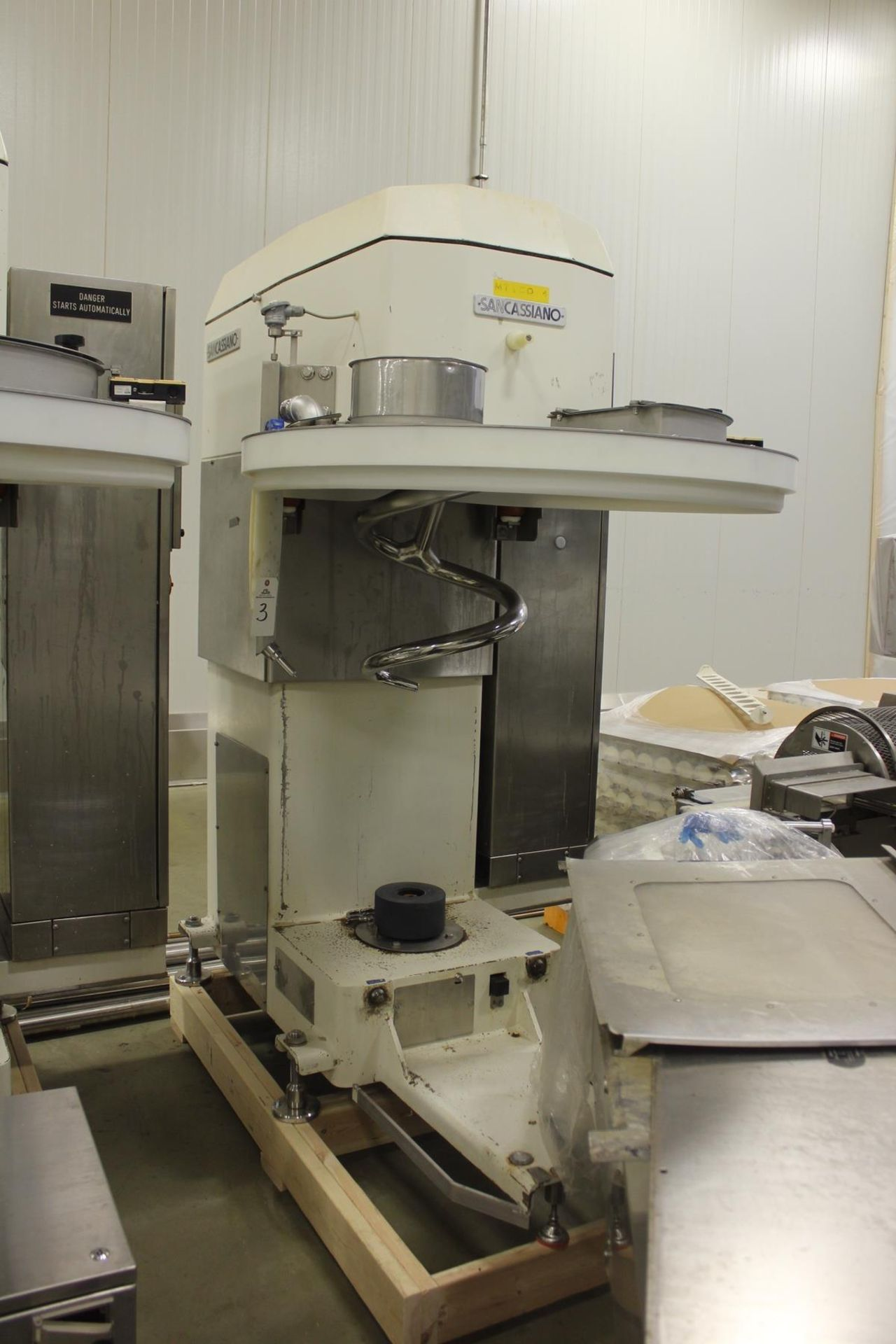 Lot 3 - 2009 San Cassiano M# SE400 Spiral Bowl Mixer, Mixing Bowl, S/N 14973, 400/500 Kg. C | Rig Fee: $1185