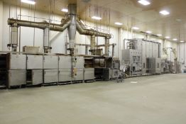 2009 Complete Yeast Raised Waffle Line: Haas Continuous Oven, Konig Divider & Tray Proofer, San Cassiano Spiral Mixers, 2015 IJ White Spiral