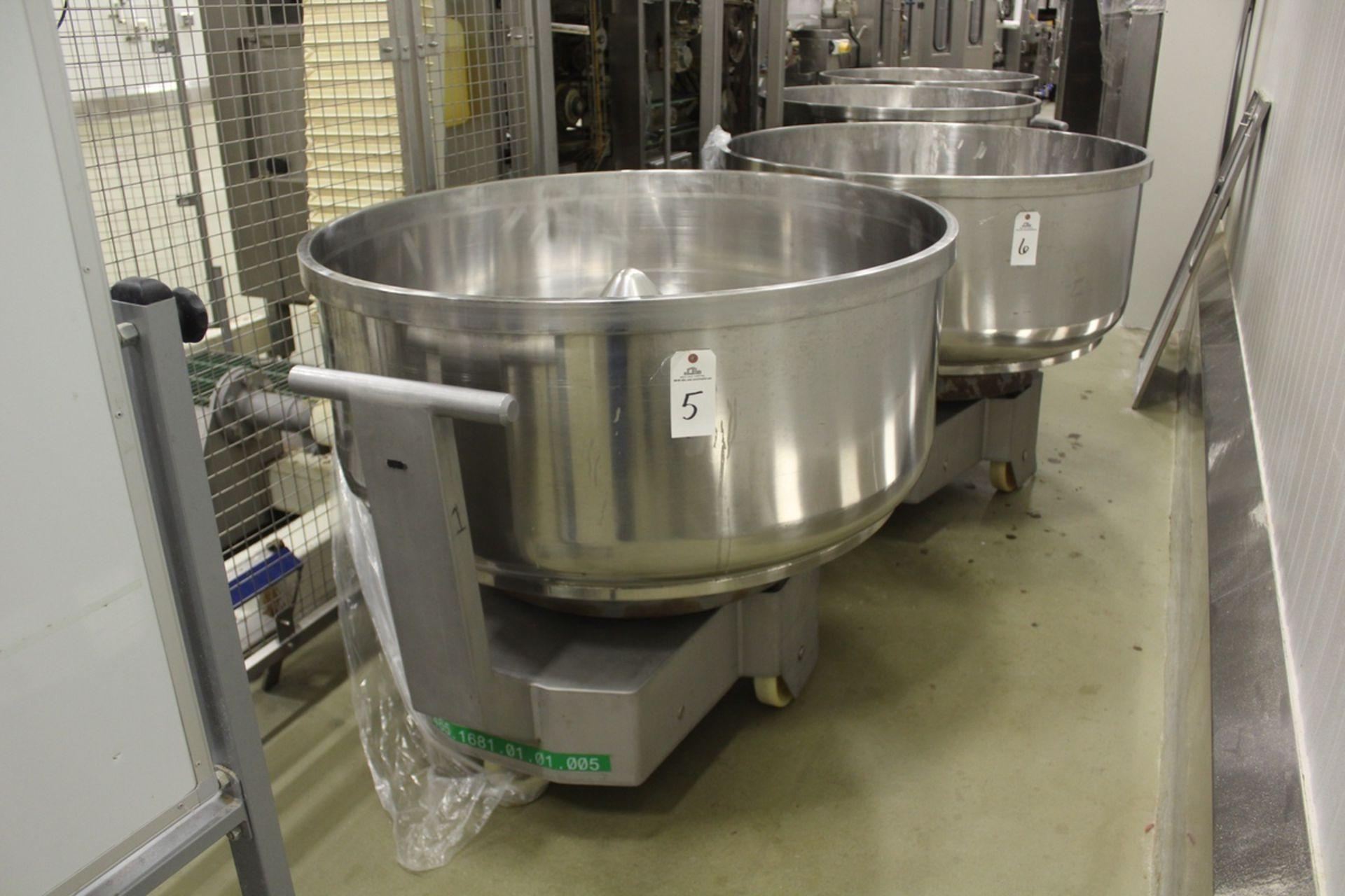 "Lot 5 - 2009 San Cassiano Planetary Mixing Bowl, 400/500 Kg. Capacity, 47"" I.D. X 21 1/2"" D | Rig Fee: $385"
