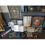Lot 119 - Beer and Colorado themed art, posters and tin signs | Rig Fee: $25 or HC