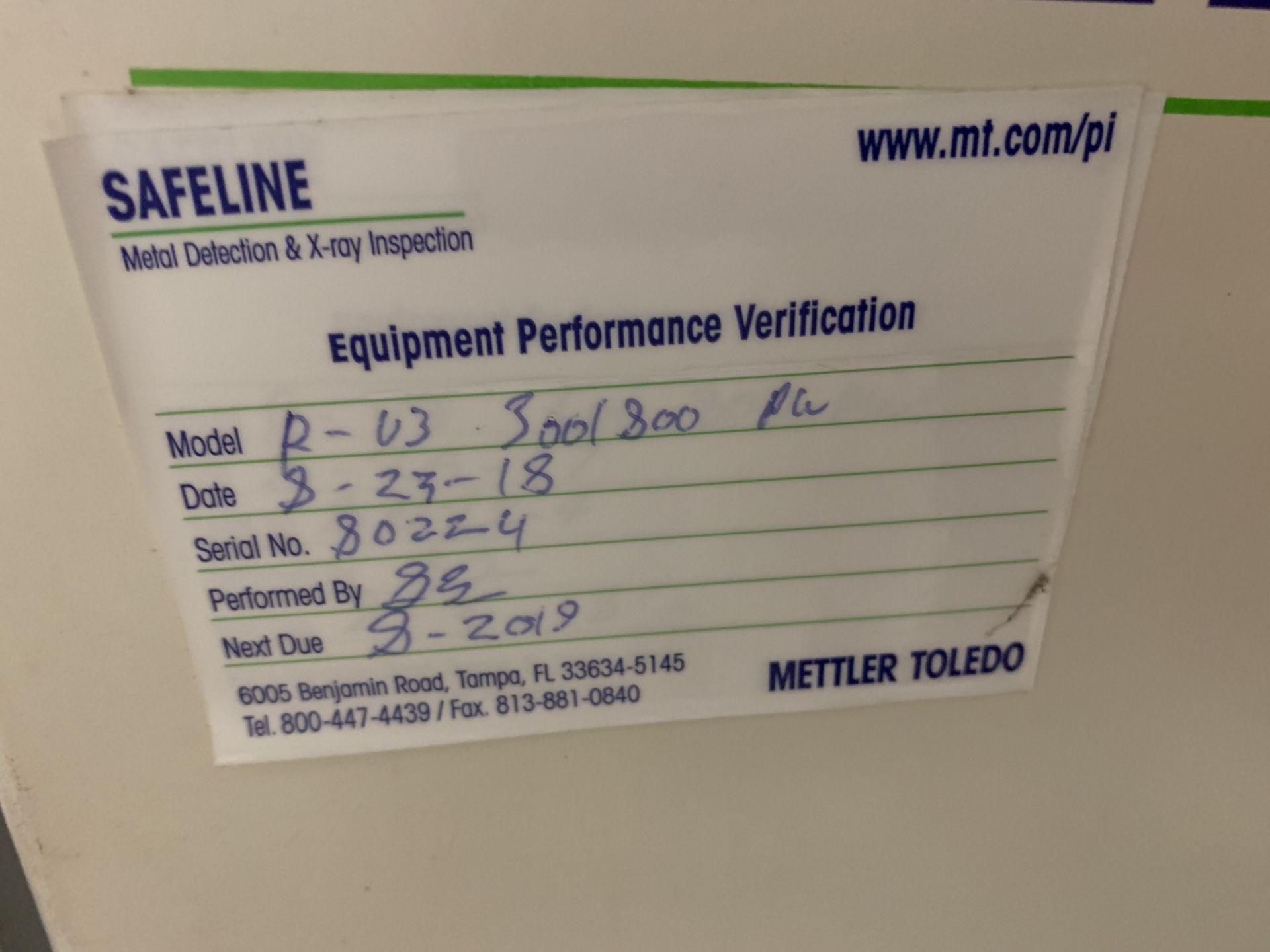 "Lot 6 - Safeline Conveyorized Metal Detector, 18"" x 6"" Apreture, 11 1/2"" x 4 1/2"" Clear wit | Rig Fee: 200"
