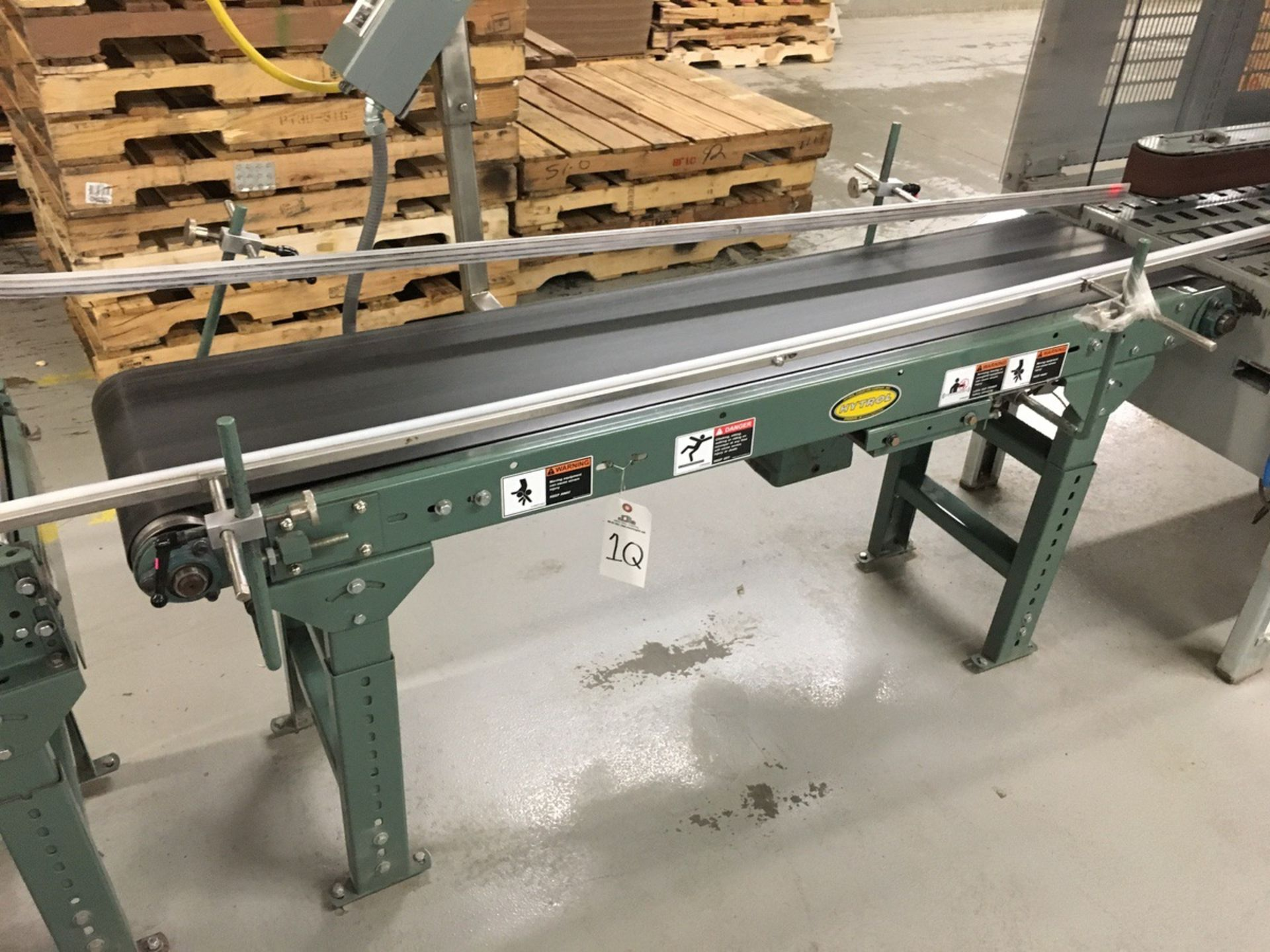 Lot 1Q - 2013 (2) Hytrol Powered Belt Conveyors, 14in W Belt, 10ft Length and 6 | Insp by Appt | Rig Fee: 125