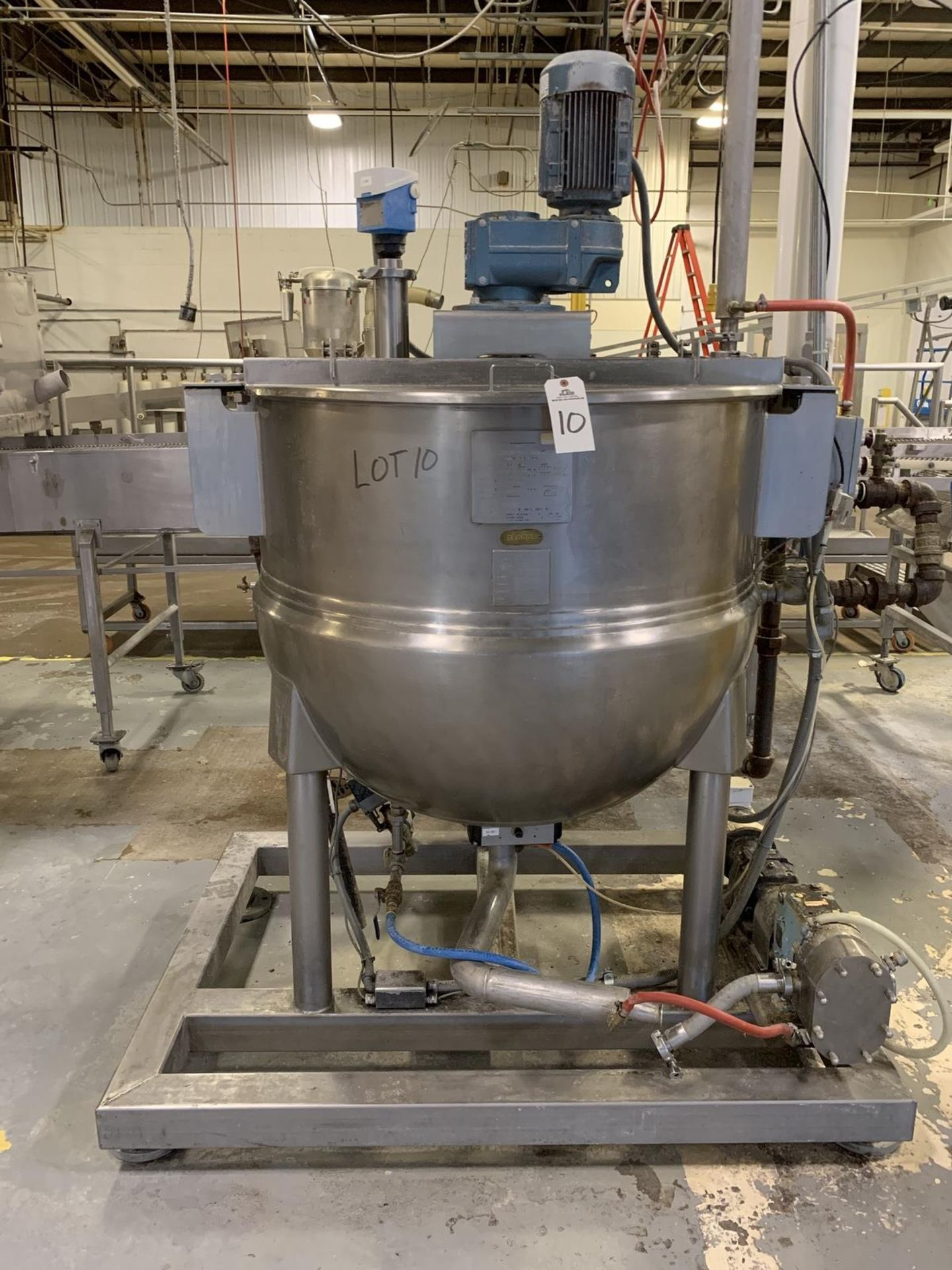 Lot 10 - 2003 Hamilton 150 Gallon Sweep Scrape Agitated Kettle, 125 PSI Jacket with Onboard | Rig Fee: 400