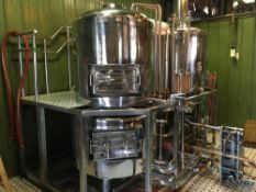 Assets No Longer Required By Hopcat- 3.5 BBL Microbrewery with High Polish Brewhouse Package, Fermenters, Brite Tanks and Chiller