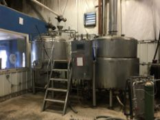 Blue Pants Brewery & Terra Cider - 2012-16: 15 BBL Brewhouse, HLT, CLT, 2012-13 Unitanks & Brite Tanks to 60 BBL, 2016 Can Line + Cider Equip