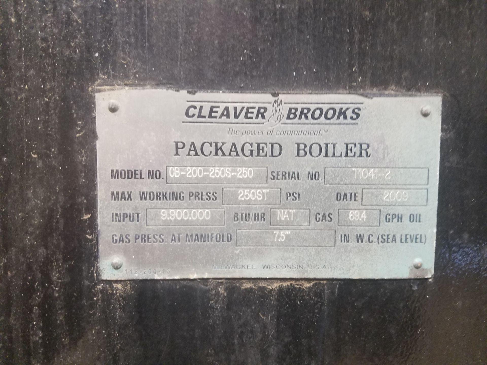 2009 (Rebuilt 2016) 250 HP Cleaver Brooks Boiler, 8.9 mmBTU, M# CB-200-250S-250, | Rig Fee: $5000 - Image 3 of 8