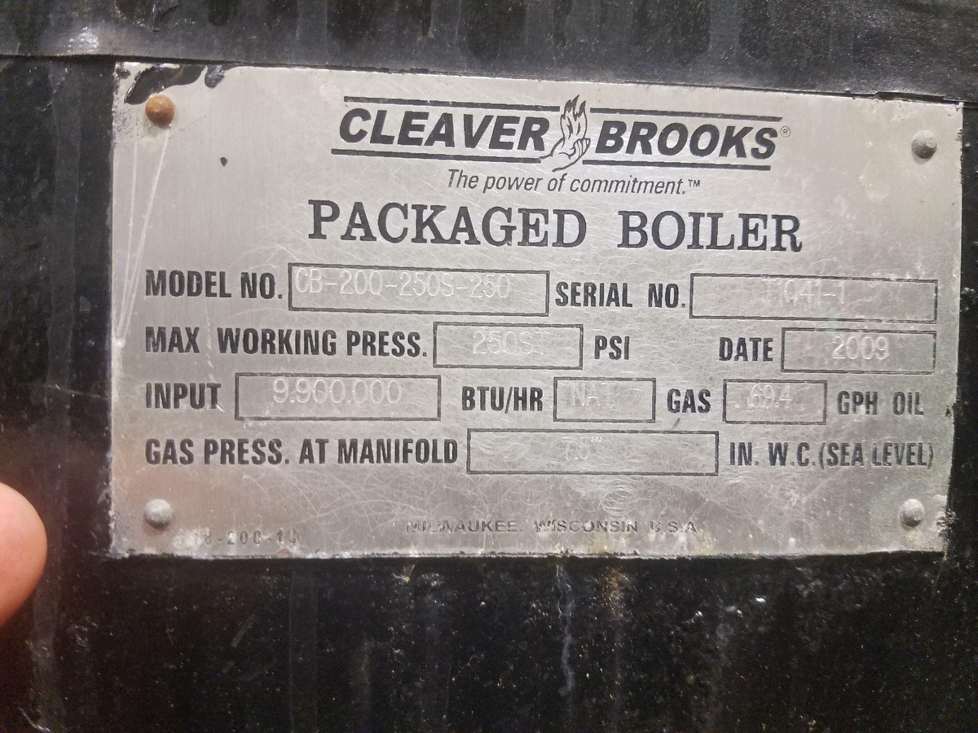 2009 (Rebuilt 2016) 250 HP Cleaver Brooks Boiler, 8.9 mmBTU, M# CB-200-250S-250, | Rig Fee: $5000 - Image 2 of 7