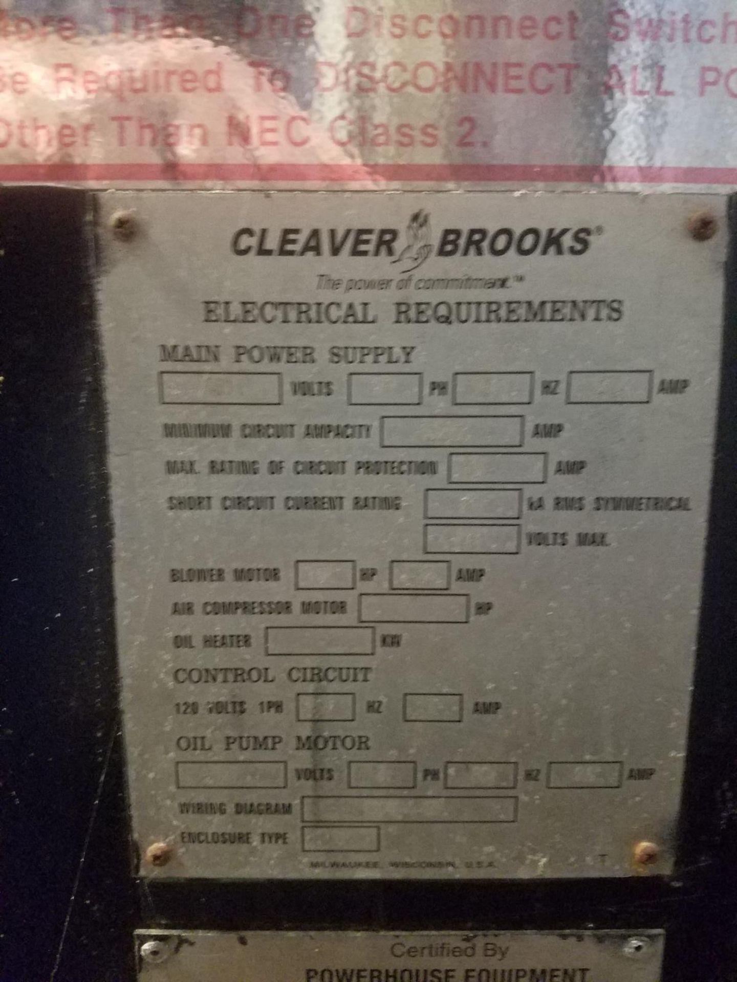 2009 (Rebuilt 2016) 250 HP Cleaver Brooks Boiler, 8.9 mmBTU, M# CB-200-250S-250, | Rig Fee: $5000 - Image 5 of 7